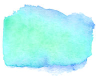 Watercolor Teal Banner Royalty Free Stock Photo