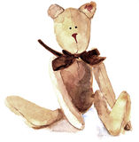 Watercolor Teddy. Teddy bear, pained by watercolors Stock Image