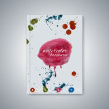 Watercolor template brochure, magazine, flyer Royalty Free Stock Photography