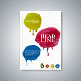 Watercolor template brochure, magazine, flyer Stock Image