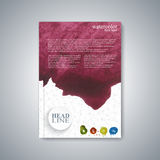 Watercolor template brochure, magazine, flyer Royalty Free Stock Image