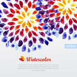 Watercolor template colorful rainbow brushstrokes Royalty Free Stock Photos