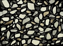 Watercolor terrazzo background black. This is a stylized watercolor composition of one of the varieties of a seamless mosaic floor. Venetian terrazzo to this day Stock Photography