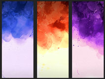 Watercolor text template. Watercolor wallpaper background template abstract Royalty Free Stock Image