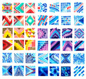 Watercolor textile patterns Stock Photos