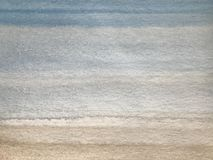 Watercolor texture with blue and brown stripes, hand painting background