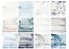 Watercolor texture collection Royalty Free Stock Photography