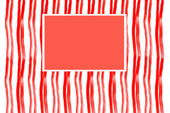 Watercolor texture Red thick stripes with red rectangular Royalty Free Stock Images