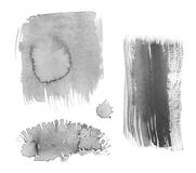 Watercolor texture set. Background of black and white watercolor painted illustration Royalty Free Illustration
