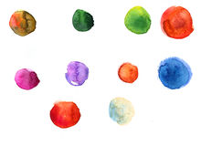 Watercolor texture with splodges Stock Image