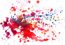 Watercolor texture of stains stock photo