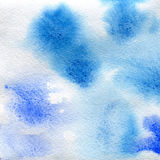 Watercolor texture transparent blue color.  abstract background, spot, blur, fill. Stock Image