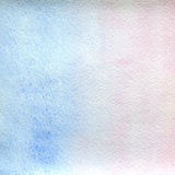 Watercolor texture transparent marble pink and blue color. watercolor abstract background. vertical gradient. Stock Photography