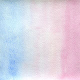 Watercolor texture transparent stretching clear, light blue and pink colors.  abstract background, spot, blur, fill. Watercolor texture transparent stretching Stock Photos