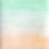 Watercolor texture transparent stretching from green blue to ocher orange. abstract background, spot, blur, fill. Watercolor texture transparent stretching from Royalty Free Illustration