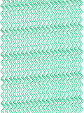 Watercolor texture Zigzag - Green thin wave stripes vertical Stock Images