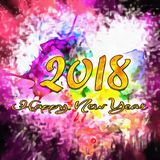 Watercolor Textured/. Happy New Year 2018 Watercolor Colorful Background Watercolor Stains Around Textured Vintage Illustration Wet To Wet Royalty Free Stock Photography