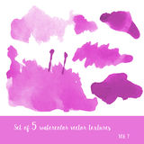 Watercolor textures Stock Photography