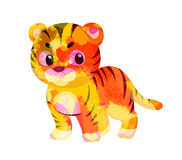 Watercolor tiger colorful isolated on white background Royalty Free Stock Images
