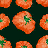 Watercolor tomato seamless pattern. Pattern. hand drawn vector illustration