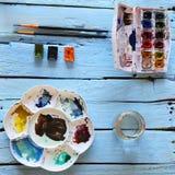 Watercolor tools set Royalty Free Stock Image