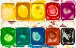 Watercolor top view Stock Image