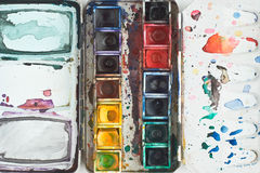 Watercolor Tray Royalty Free Stock Photos