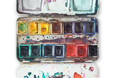 Watercolor Tray Royalty Free Stock Photography