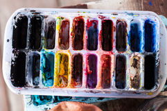 Watercolor Tray Royalty Free Stock Images
