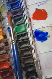 Watercolor Tray Royalty Free Stock Photos