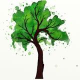 Watercolor tree Royalty Free Stock Photos