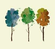 Watercolor tree Stock Photo