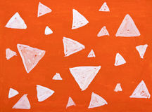 Watercolor triangle background Stock Image