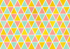 Watercolor triangle pattern. Royalty Free Stock Photography