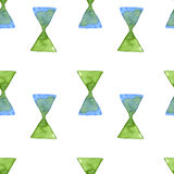 Watercolor triangle seamless pattern, vector image. Stock Images