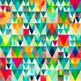 Watercolor Triangle Seamless Pattern With Grunge Effect Royalty Free Stock Photo