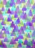 Watercolor triangles background. Triangles background of geometric shapes. Stock Image