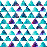 Watercolor triangles seamless pattern. Modern hipster seamless p Royalty Free Stock Image