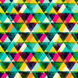 Watercolor triangles seamless pattern. Modern hipster seamless p Royalty Free Stock Images