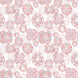 Watercolor tribal elements seamless pattern for ethnic design Stock Images