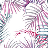 Watercolor tropical floral pattern royalty free illustration
