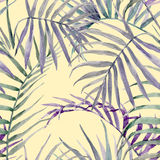 Watercolor tropical floral pattern stock illustration