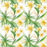 Watercolor Tropical Pattern vector illustration