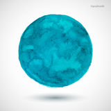 Watercolor-turquoise-blot Royalty Free Stock Photo