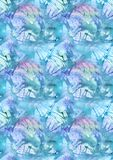 Watercolor turquoise cyan water splash abstract background pattern texture.  Stock Photography