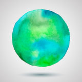 Watercolor-turquoise-green-blot Stock Images