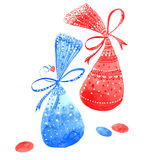 Watercolor two candy Royalty Free Stock Photography