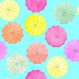 Watercolor umbrella for print design. Beautiful pattern. Colorful wallpaper. Watercolor umbrella for print design. Beautiful pattern royalty free illustration
