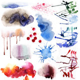Watercolor unique set Royalty Free Stock Image