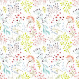 Watercolor vector abstract floral pattern Royalty Free Stock Photography